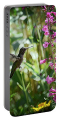 Hummingbird On Perry's Penstemon Portable Battery Charger