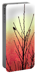 Hummingbird Peach Tree Portable Battery Charger by Gem S Visionary