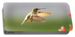 Hummingbird Profile Portable Battery Charger by Shoal Hollingsworth
