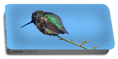 Hummingbird Resting  Portable Battery Charger by Tom Janca