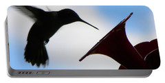 Portable Battery Charger featuring the photograph Hummingbird Silhouette by Sandi OReilly