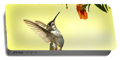 Hummingbird Under The Floral Canopy Portable Battery Charger
