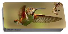 Hummingbird Vs. Bees Portable Battery Charger