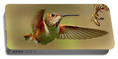 Hummingbird Vs. Bees Portable Battery Charger