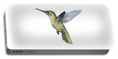 Hummingbird Watercolor Illustration Portable Battery Charger