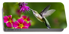 Hummingbird With Flower Portable Battery Charger