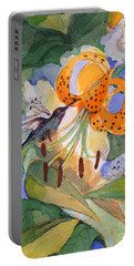 Hummingbird With Flowers Portable Battery Charger