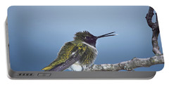 Hummingbird12 Portable Battery Charger by Loni Collins