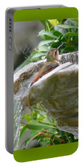 Hummingbirds Do Take Baths Portable Battery Charger