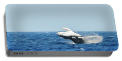 Portable Battery Charger featuring the photograph Humpback Smackdown Off Bermuda by Jeff at JSJ Photography
