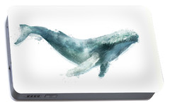 Humpback Whale From Whales Chart Portable Battery Charger by Amy Hamilton