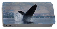 Humpback Whale Breach Portable Battery Charger