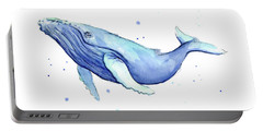 Humpback Whale Watercolor Portable Battery Charger