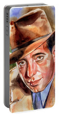 Humphrey Bogart Portrait Portable Battery Charger