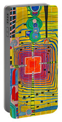 Hundertwassers Close Up Of Infinity Tagores Sun Portable Battery Charger