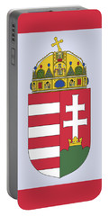 Portable Battery Charger featuring the drawing Hungary Coat Of Arms by Movie Poster Prints