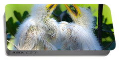 Hungry Egret Chicks Portable Battery Charger