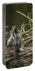 Hungry Pied Shag Chicks Portable Battery Charger