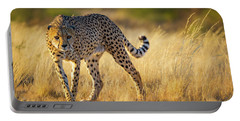Hunting Cheetah Portable Battery Charger by Inge Johnsson
