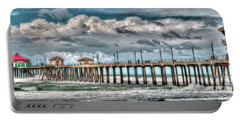 Portable Battery Charger featuring the photograph Huntington Beach Winter 2017 by Jim Carrell