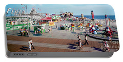 Hunts Pier In The 1960's, Wildwood Nj Sixties Panorama Photograph. Copyright Aladdin Color Inc. Portable Battery Charger
