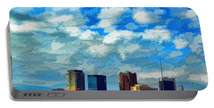 Huntsville Alabama Skyline Abstract Art Portable Battery Charger