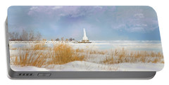 Huron Lighthouse Portable Battery Charger by Mary Timman