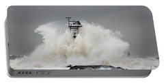 Hurricane Jose Wave At The Inlet Jetty Portable Battery Charger