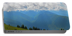 Portable Battery Charger featuring the photograph Hurricane Ridge Panoramic by Tikvah's Hope