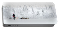 Portable Battery Charger featuring the photograph Husky Safari by Delphimages Photo Creations