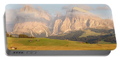 Huts On The Alpe Di Siusi Portable Battery Charger