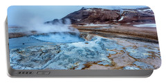Hverir Steam Vents In Iceland Portable Battery Charger