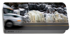 Portable Battery Charger featuring the photograph Hwy Ice   by Doug Gibbons