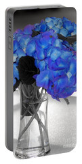 Hydrangea In Glass Portable Battery Charger