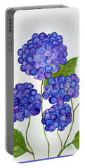 Hydrangea Portable Battery Charger by Reina Resto