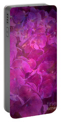 Hydrangea Textured In A Pink Light Portable Battery Charger
