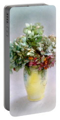 Hydrangeas In Autumn Still Life Portable Battery Charger by Louise Kumpf