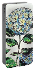 Portable Battery Charger featuring the photograph Hydrangeas by Monique Faella