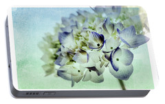 Portable Battery Charger featuring the photograph Hydrengae Petals 2 by Rebecca Cozart