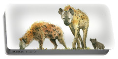 Hyena Family  Portable Battery Charger