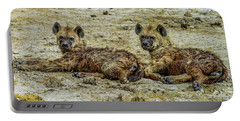 Hyenas In The Serengeti Portable Battery Charger