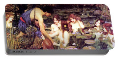Hylas And The Nymphs Portable Battery Charger