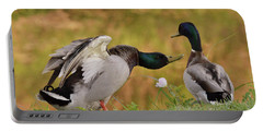 Portable Battery Charger featuring the photograph I Am In Charge Here by Debby Pueschel