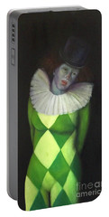 Portable Battery Charger featuring the painting I Am by Marlene Book