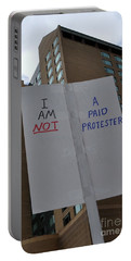 I Am Not A Paid Protester Portable Battery Charger