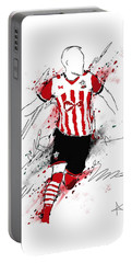 I Am Red And White Stripes Portable Battery Charger