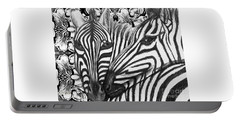 I Am So Into You Zebra Love Portable Battery Charger by Kimberlee Baxter