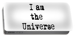 I Am The Universe Quote Prints, All Is One, Art Print Posters, Crown Chakra Portable Battery Charger