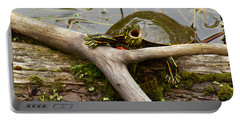 I Am Turtle, Hear Me Roar Portable Battery Charger by Sean Griffin