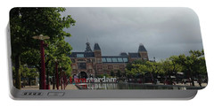 Portable Battery Charger featuring the photograph I Amsterdam by Therese Alcorn
